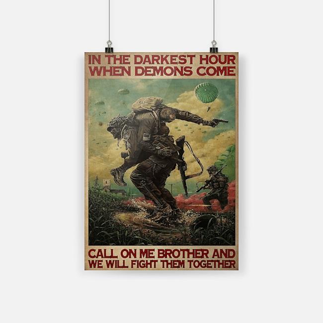 Veteran in the darkest hours when demons come poster