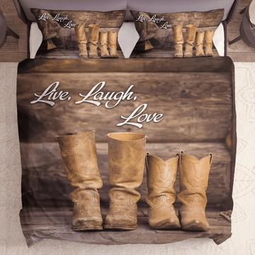 The best live laugh love bedding set