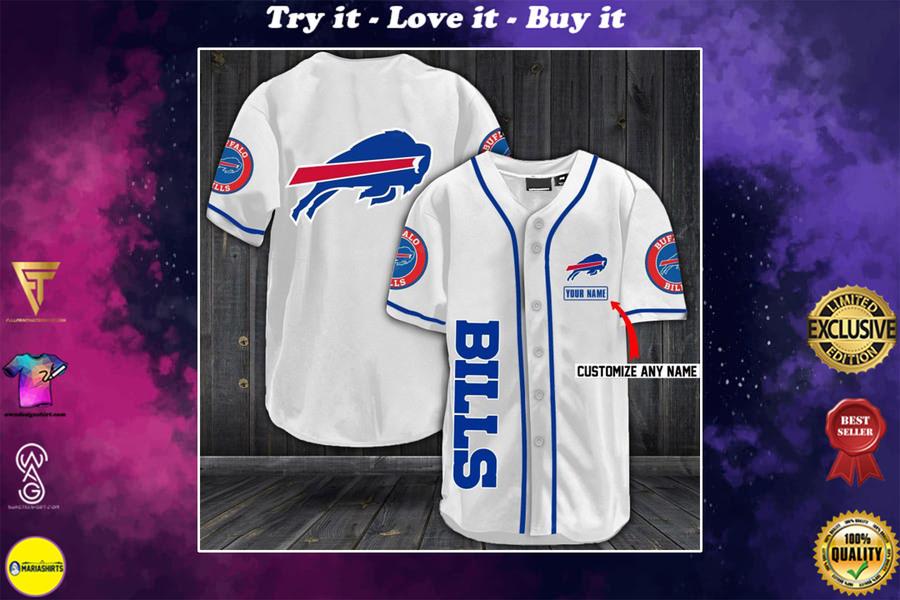 New ver personalized name buffalo bills full printing baseball shirt
