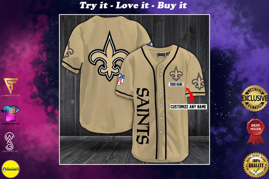 Limited season personalized name new orleans saints baseball shirt