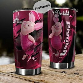 The best personalized name piglet winnie‑the‑pooh tumbler
