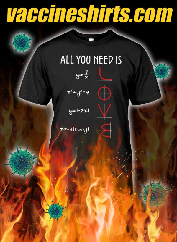 All you need is love math shirt