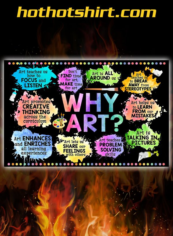Classroom why art poster