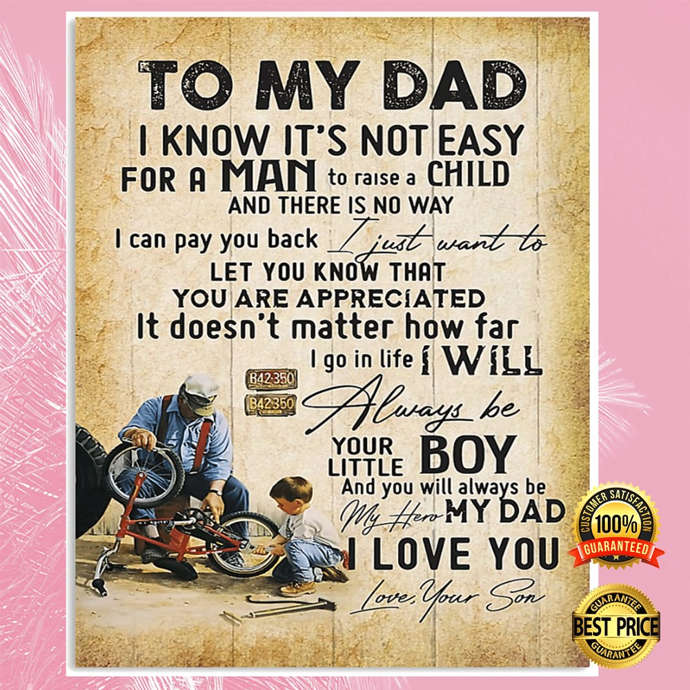 [Discount] Cycling To My Dad I Know It's Not Easy For A Man To Raise A Child Poster