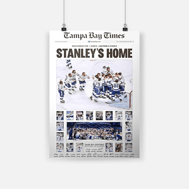 Tampa bay times stanley's home poster