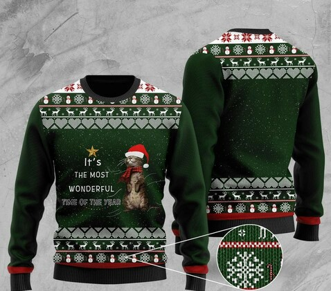 Amazing its the most wonderful time of the year otter christmas ugly sweater