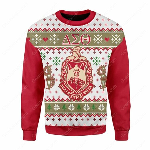 Amazing delta sigma theta all over printed ugly christmas sweater