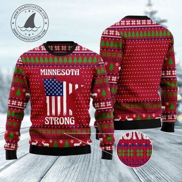 Amazing minnesota strong all over printed ugly christmas sweater