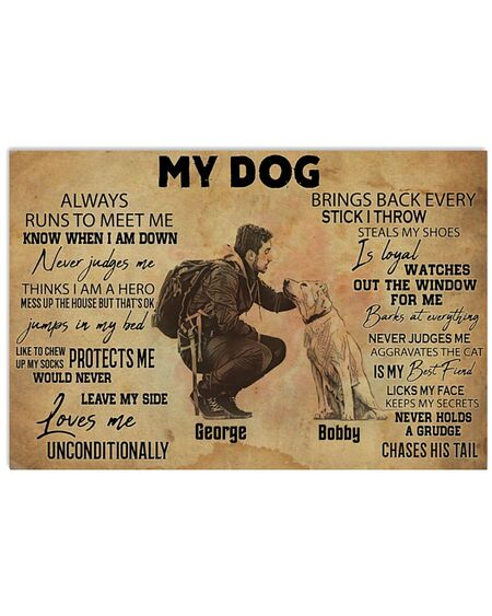 Amazing my dog always runs to meet me brings back every stick i throw poster