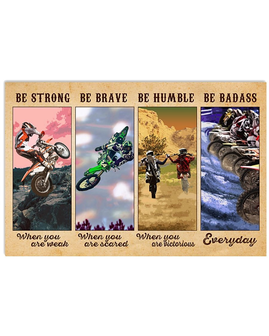 [LIMITED] Poster Motocross be strong be brave be humble be badass