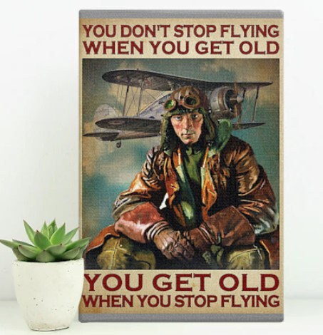 [LIMITED] Poster Pilot you get old when  you stop flying you dont stop flying when you get old