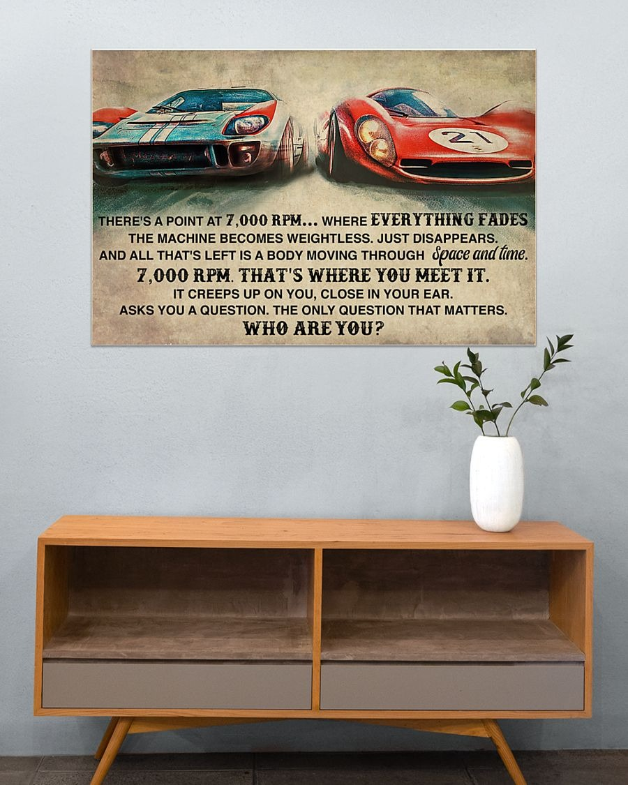 [LIMITED] Poster Car Racing there's a point at 7000rpm where everything fades the machine become weightless