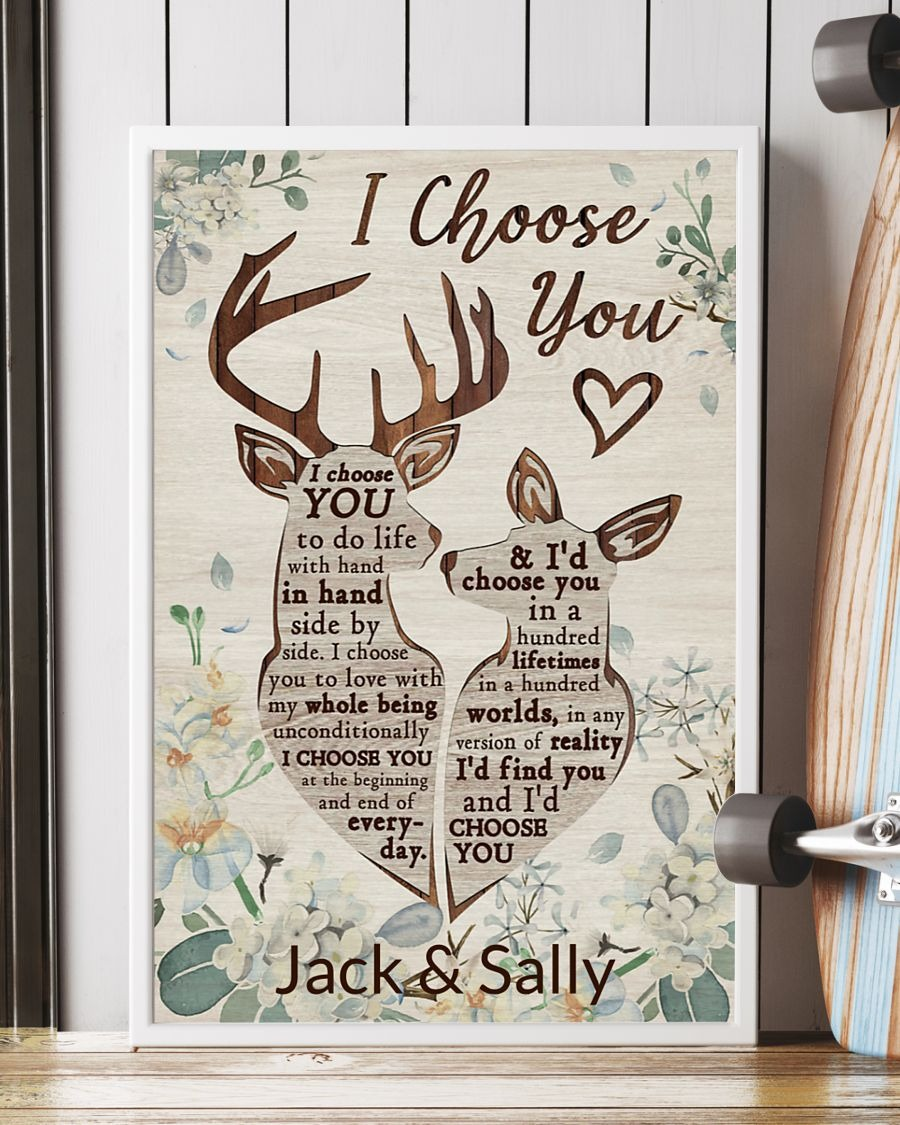 [LIMITED] Poster Deer I choose you to do personalized custom name