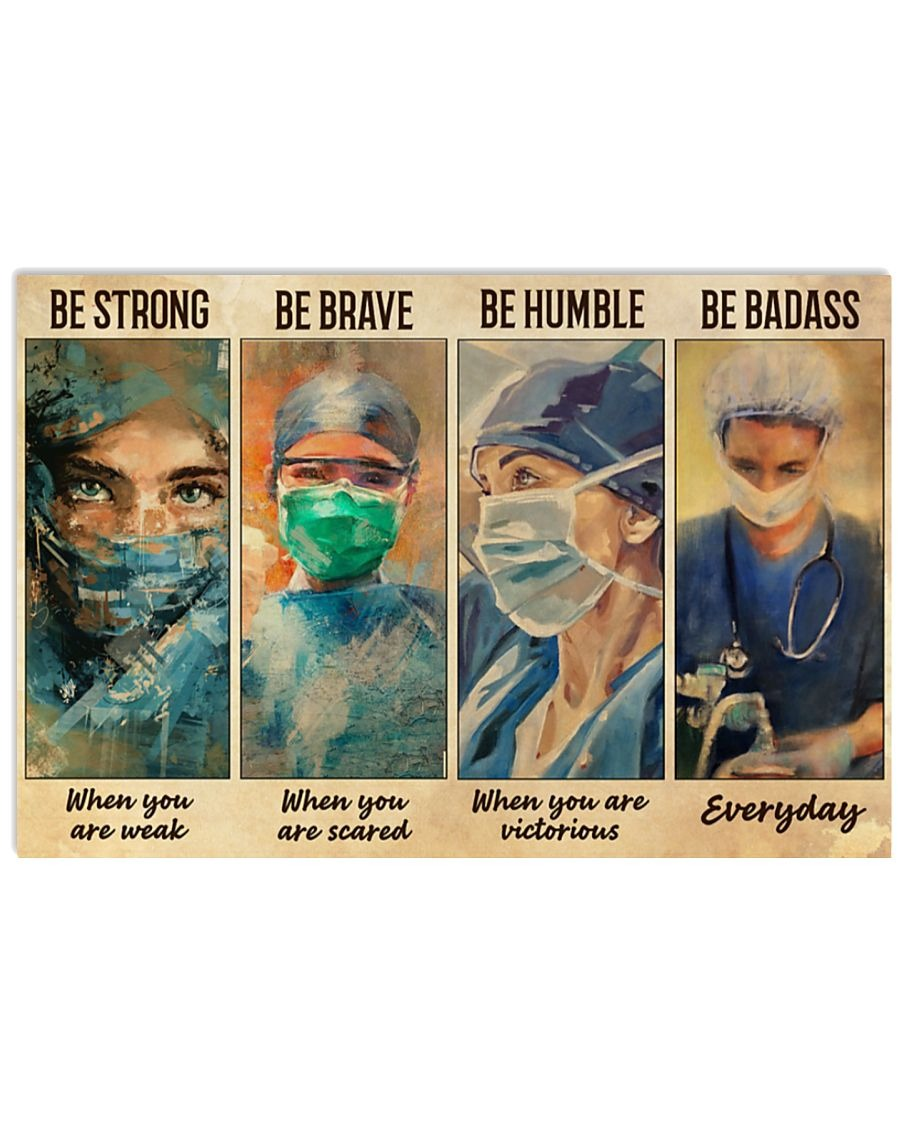 [LIMITED] Poster Female physicians nurse be strong be brave be humble be badass