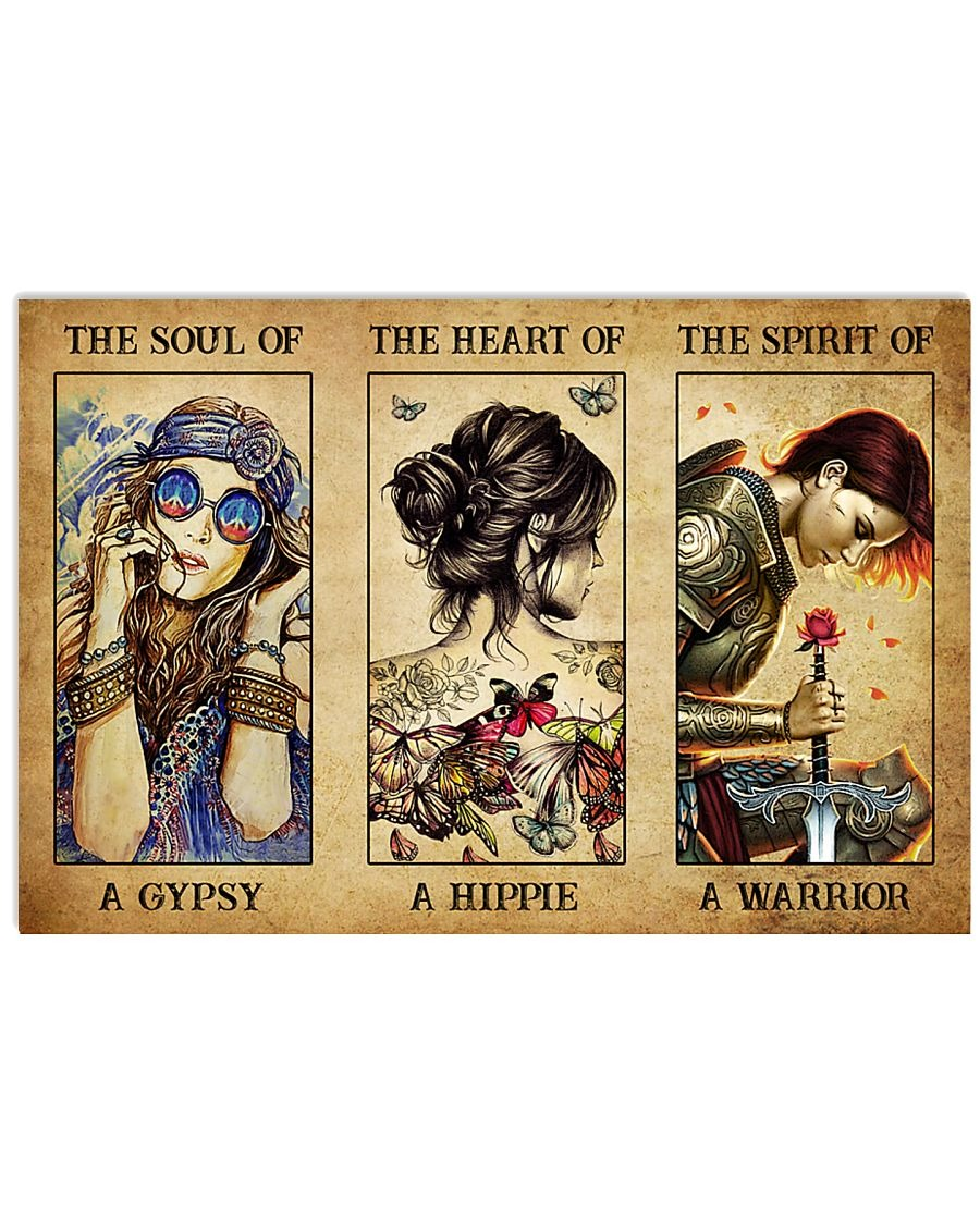 [LIMITED] Poster Hippie girl The soul of a gypsy the heart of a hippie