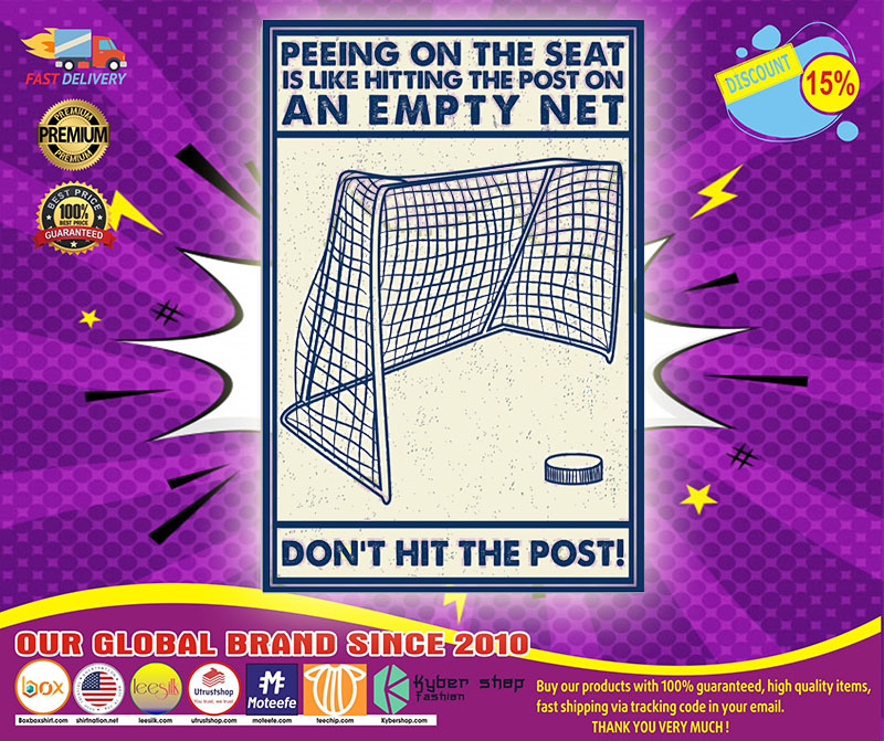 [LIMITED] Poster Hockey don't hit the poster peeing on the seat