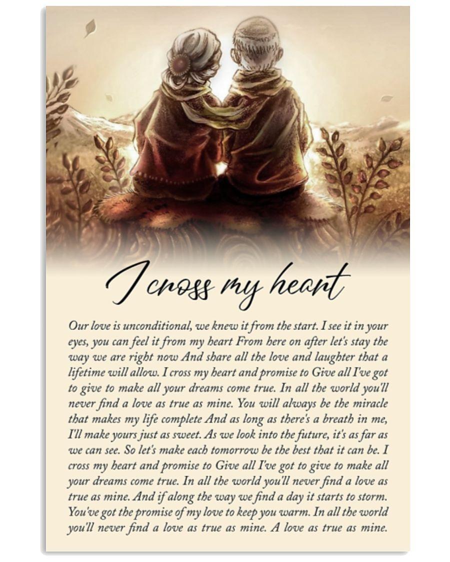 [LIMITED] Poster I cross my heart lyrics