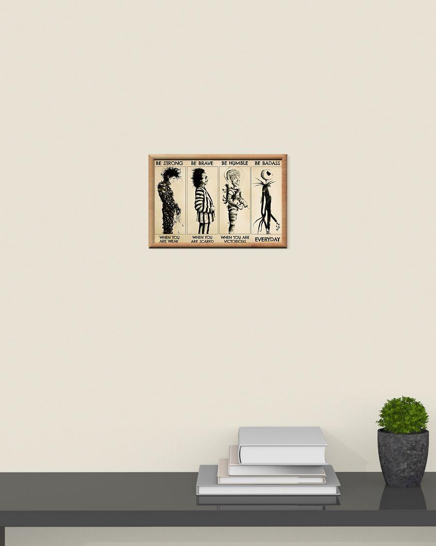 [LIMITED] Poster Jack Skellington Mars attacks Edward Scissorhands Beetlejuice be strong be brave be humble