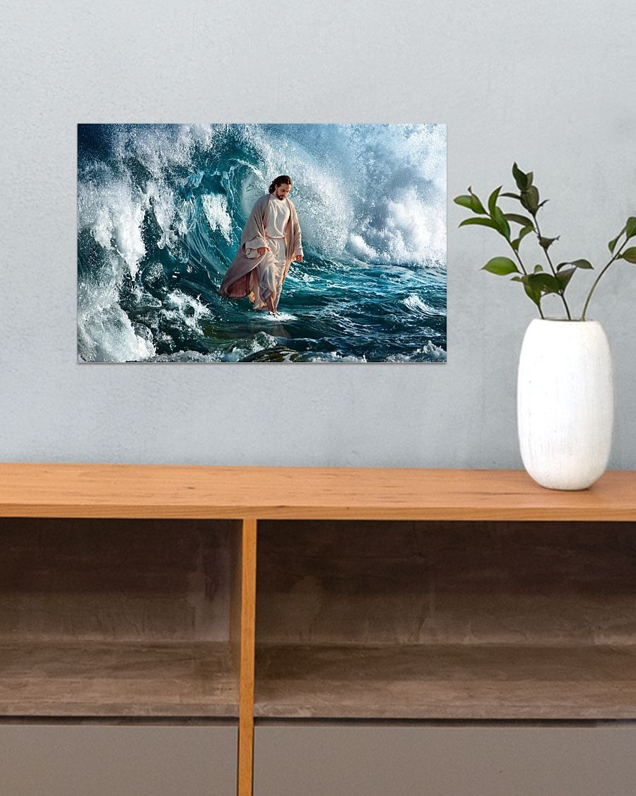 [LIMITED] Poster Jesus walking on water