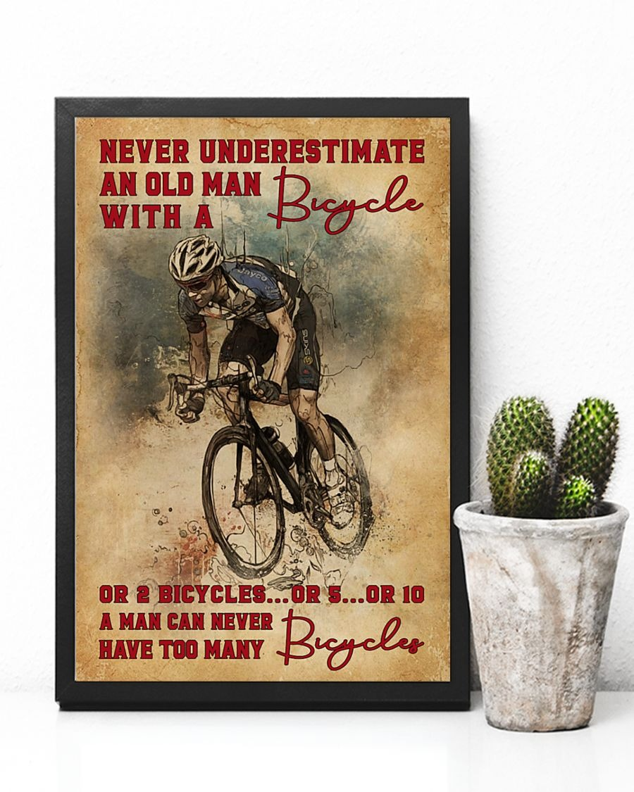 [LIMITED] Poster Never underestimate an old man with a bicycle