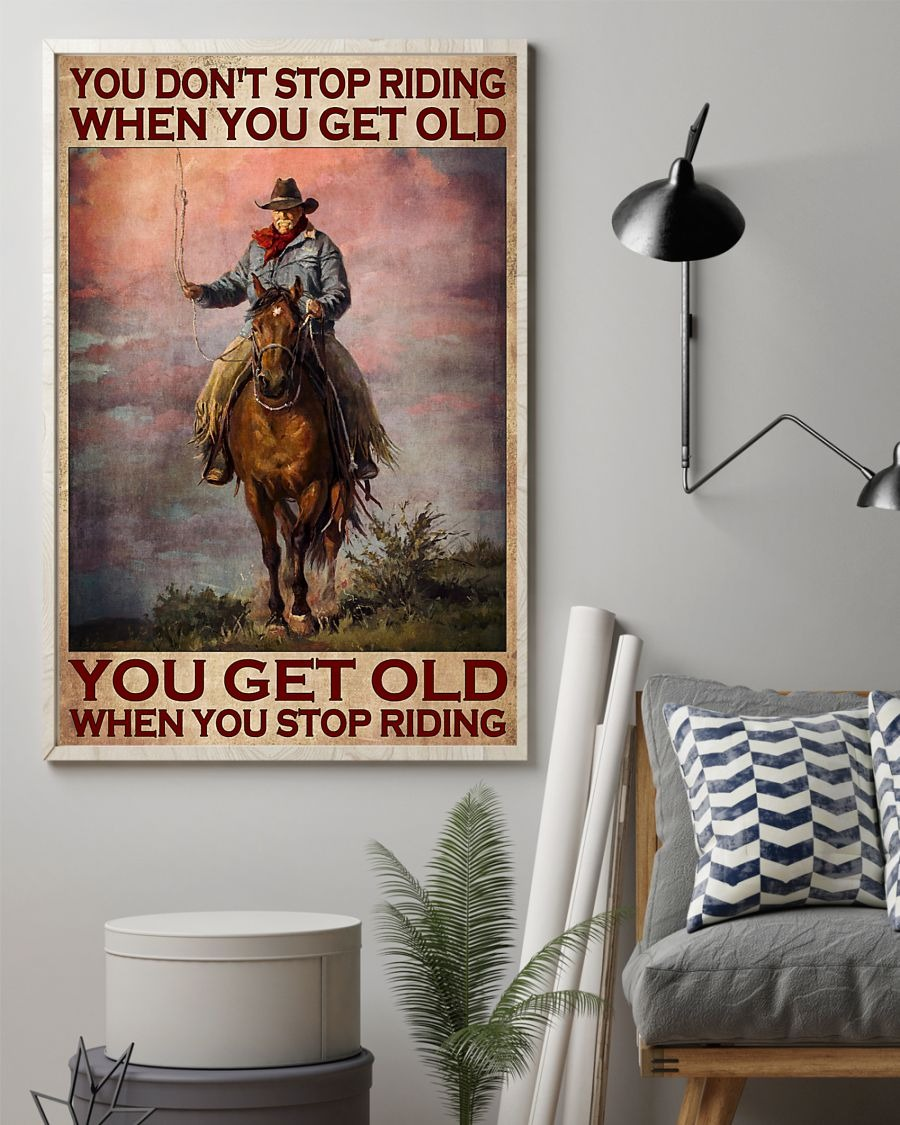 [LIMITED] Poster Old man You don't stop riding when you get old