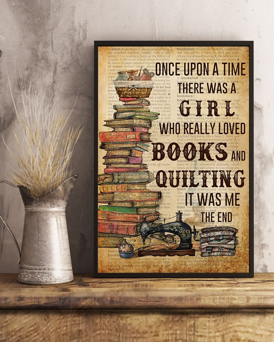 [LIMITED] Poster Once upon a time there was a girl who really loved books and quilting