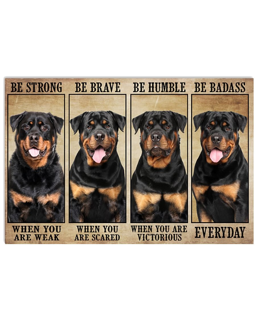 [LIMITED] Poster Rottweiler be strong be brave be humble be badass