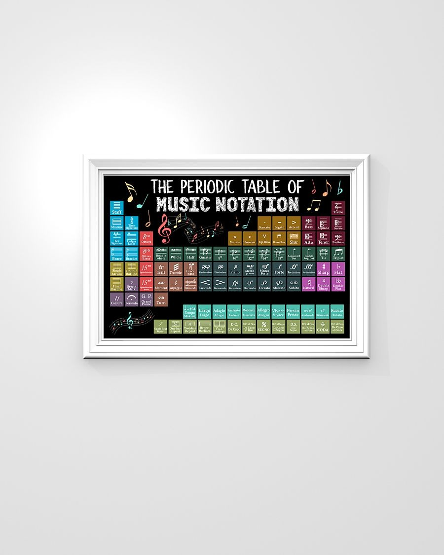 [LIMITED] Poster The periodic table of music notation