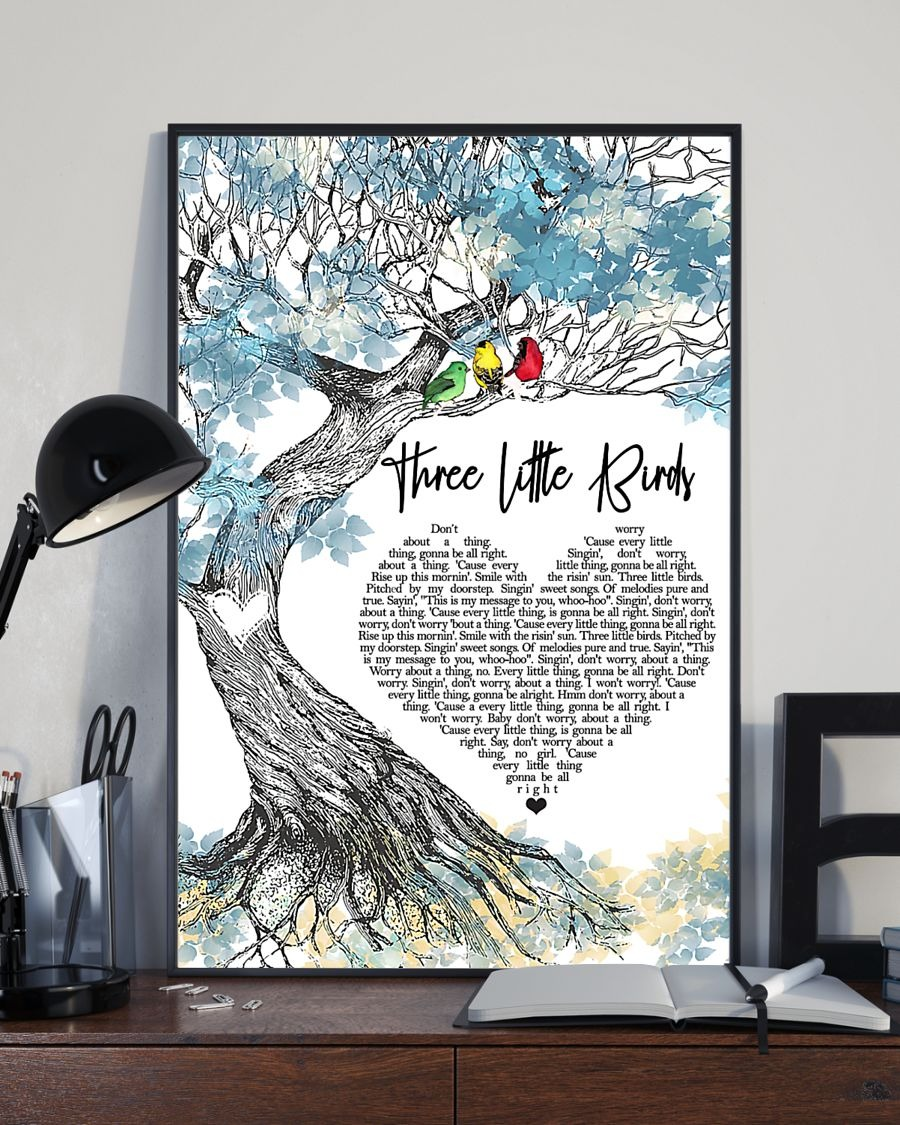[LIMITED] Poster Three little bird lyrics