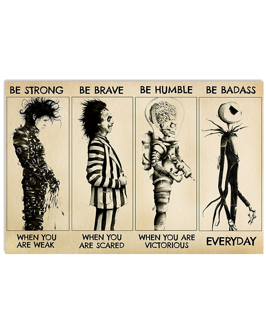 [LIMITED] Poster Tim Burton characters be strong be brave be humble be badass