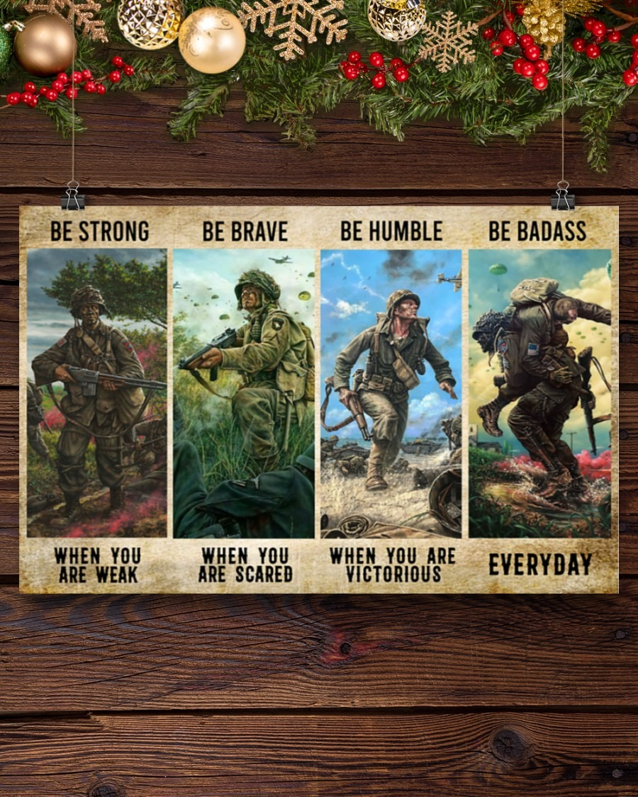 [LIMITED] Poster Veteran be strong be brave be humble be badass