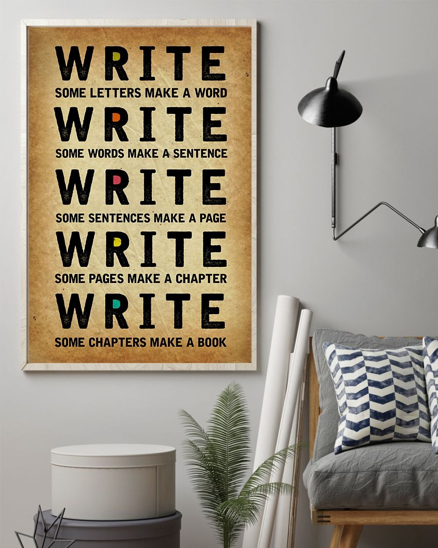 [LIMITED] Poster Write some letters make a word write some words make a sentence