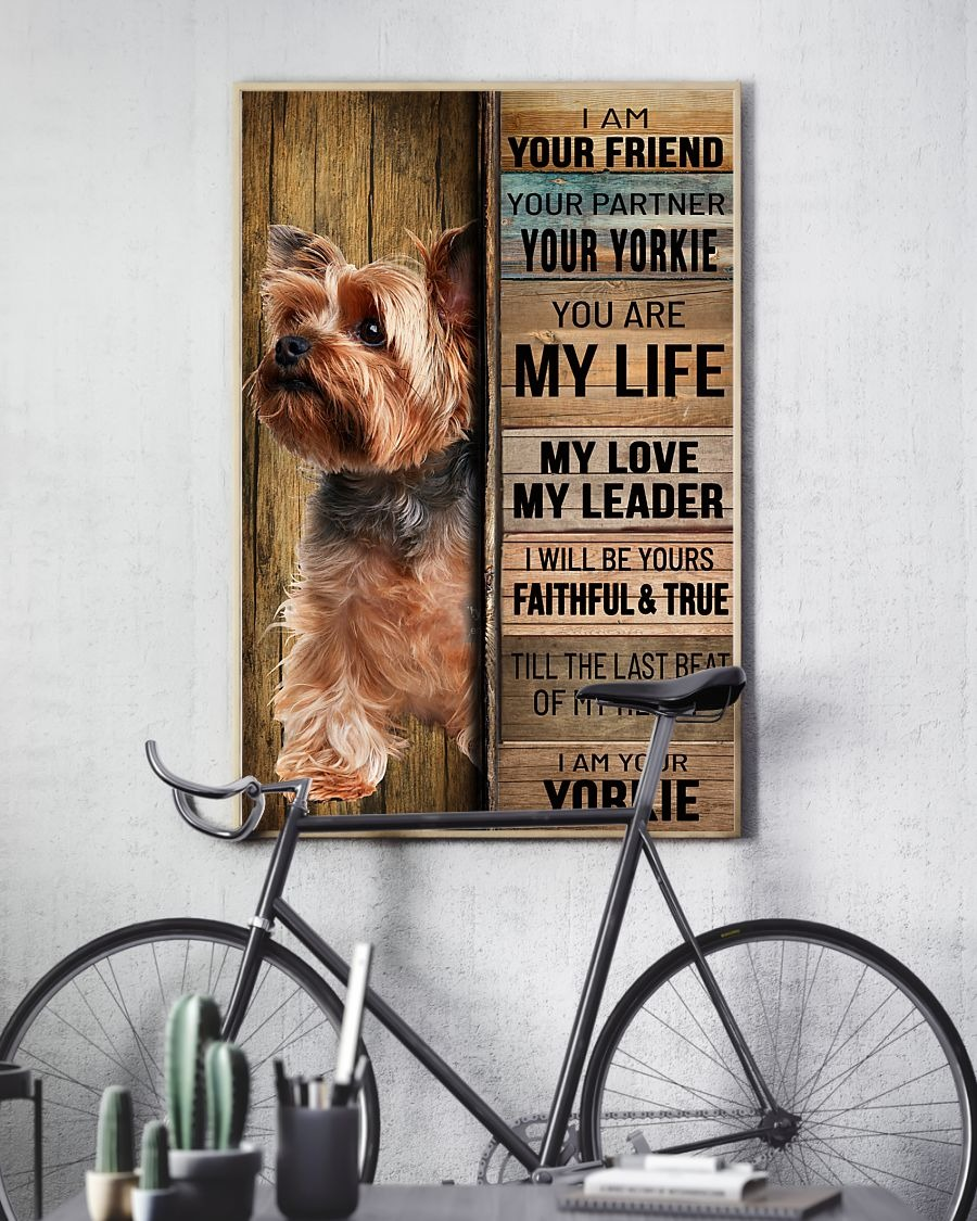 [LIMITED] Poster Yorkshire tierrier dog I am your friend your partner your yorkie