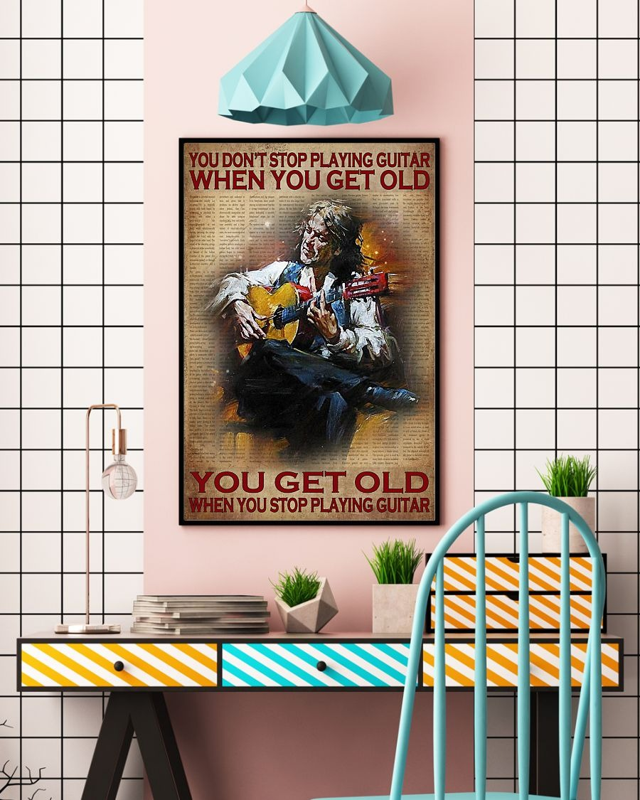 [LIMITED] Poster You don't stop playing guitar when you get old