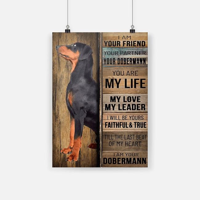 Poster doberman pinscher I am your friend