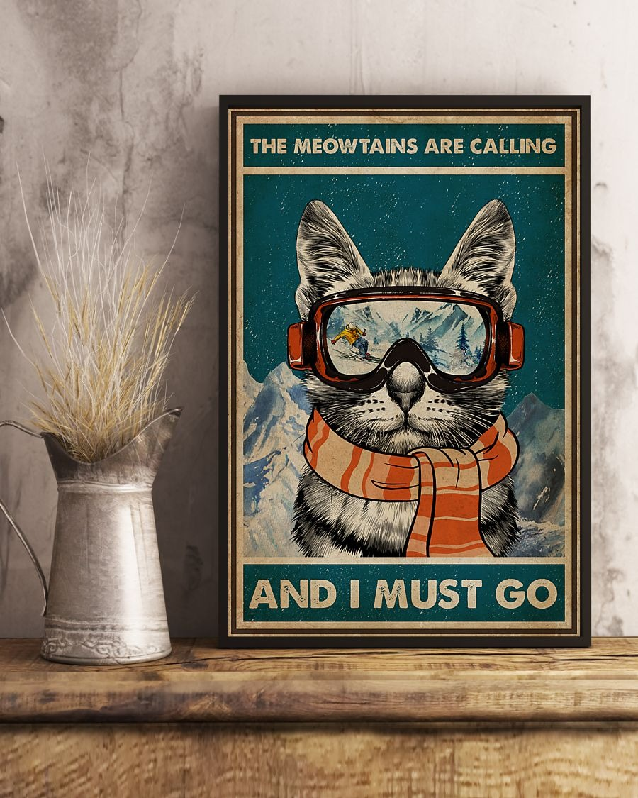 [LIMITED] Poster The meowtains are calling and I must go