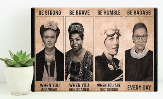 [LIMITED] Poster Women be strong be brave be humble be badass