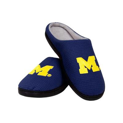 Amazing michigan wolverines football full over printed slippers