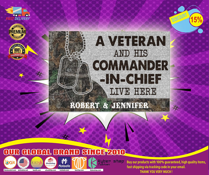 [LIMITED] A veteran and his commander in chief live here doormat