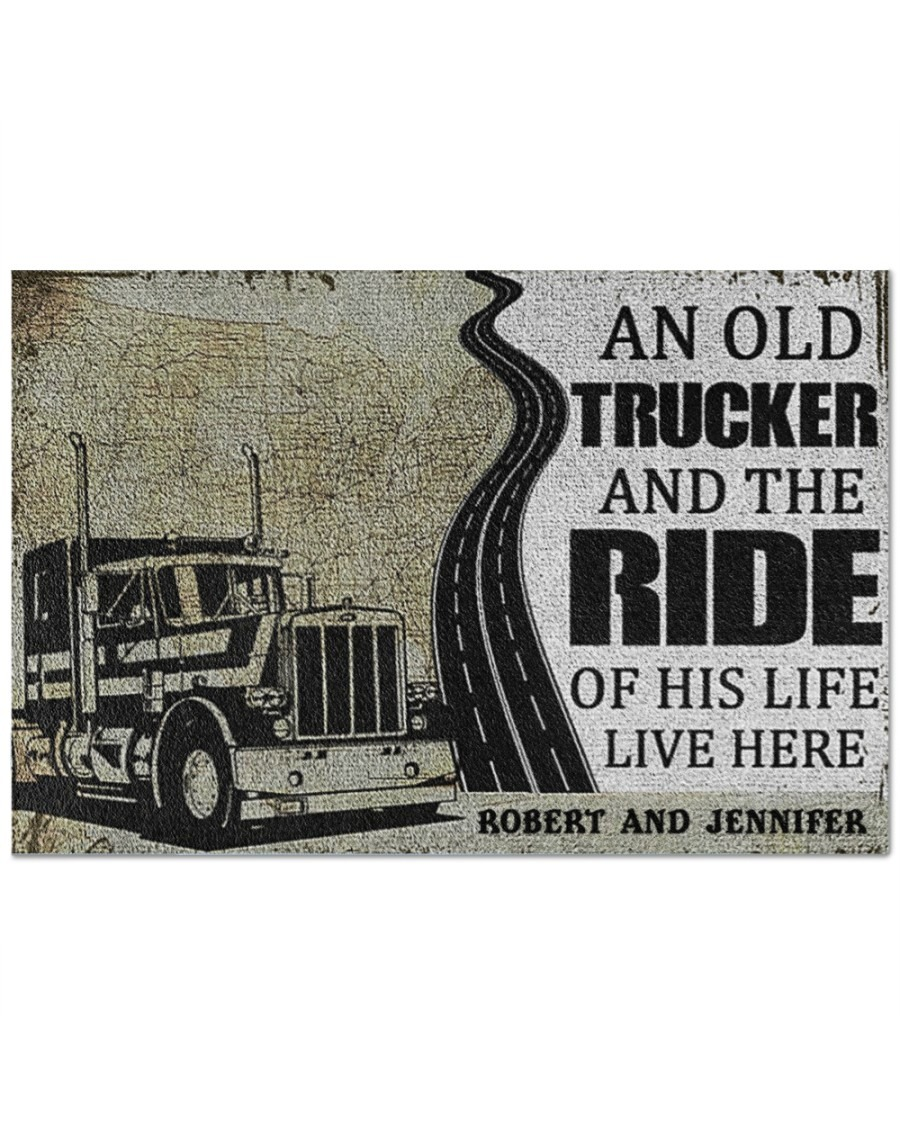 [LIMITED] An old trucker and the ride of his life live here doormat