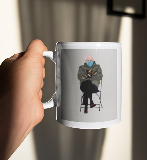 [LIMITED] Bernie sanders mittens mug