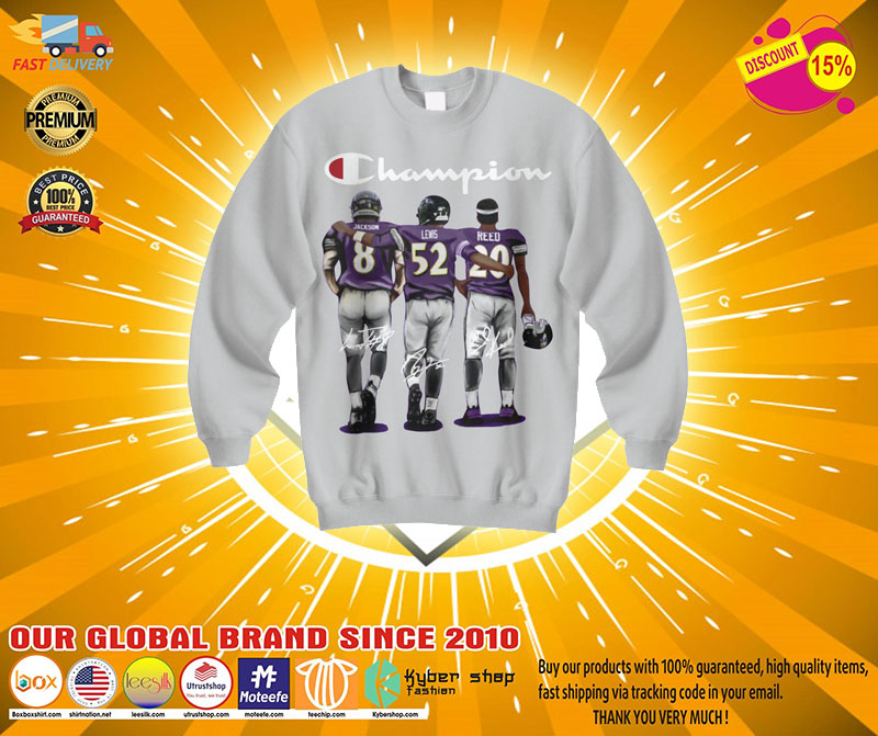 [LIMITED] Champion Baltimore Ravens Jason Lewis reed shirt