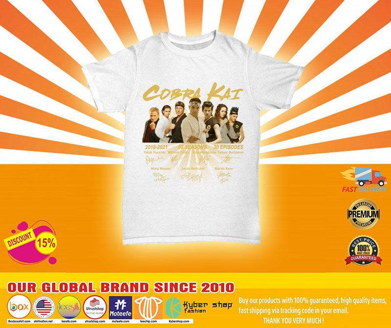 [LIMITED] Cobra Kai 2018 2021 03 seasons 30 episodes shirt