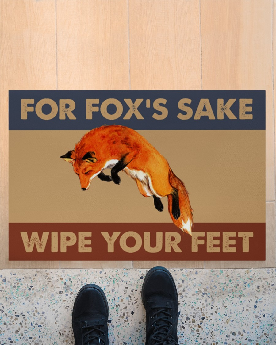 [LIMITED] Fox fox's sake wipe your feet doormat