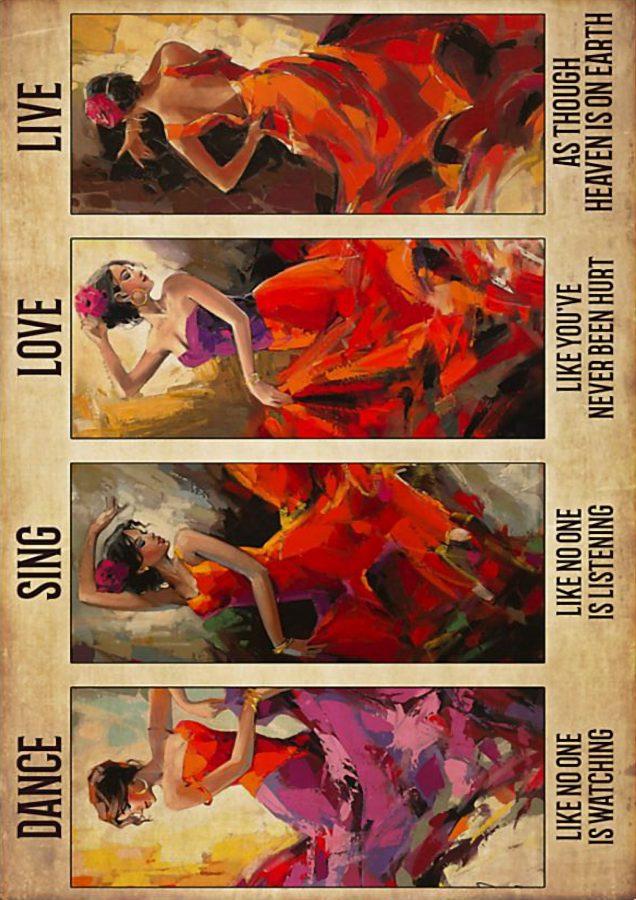 Latin dance sing love live poster