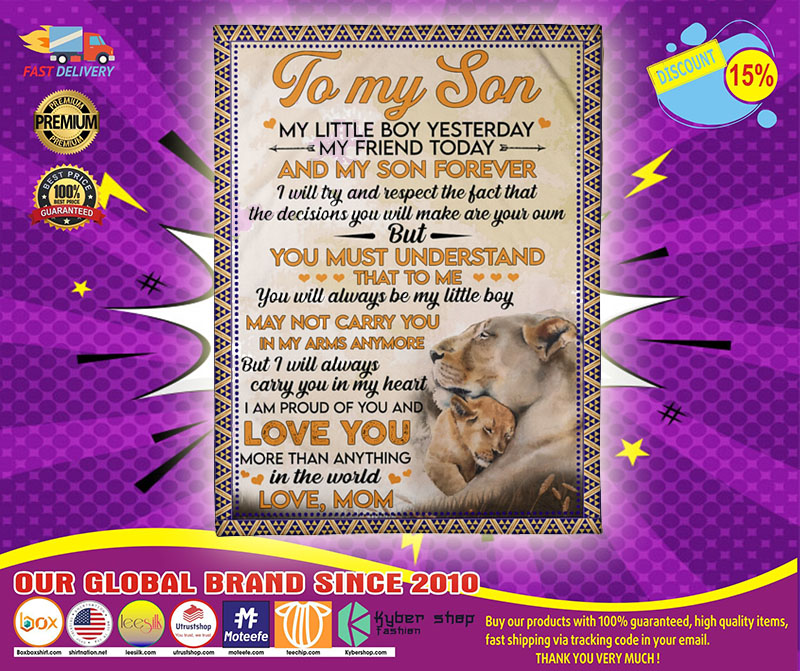 [LIMITED] Lion to my son my little boy yesterday blanket