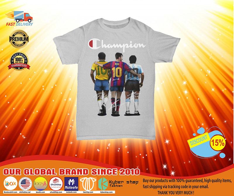 [LIMITED] Messi Pele Maradona 10 Champion shirt