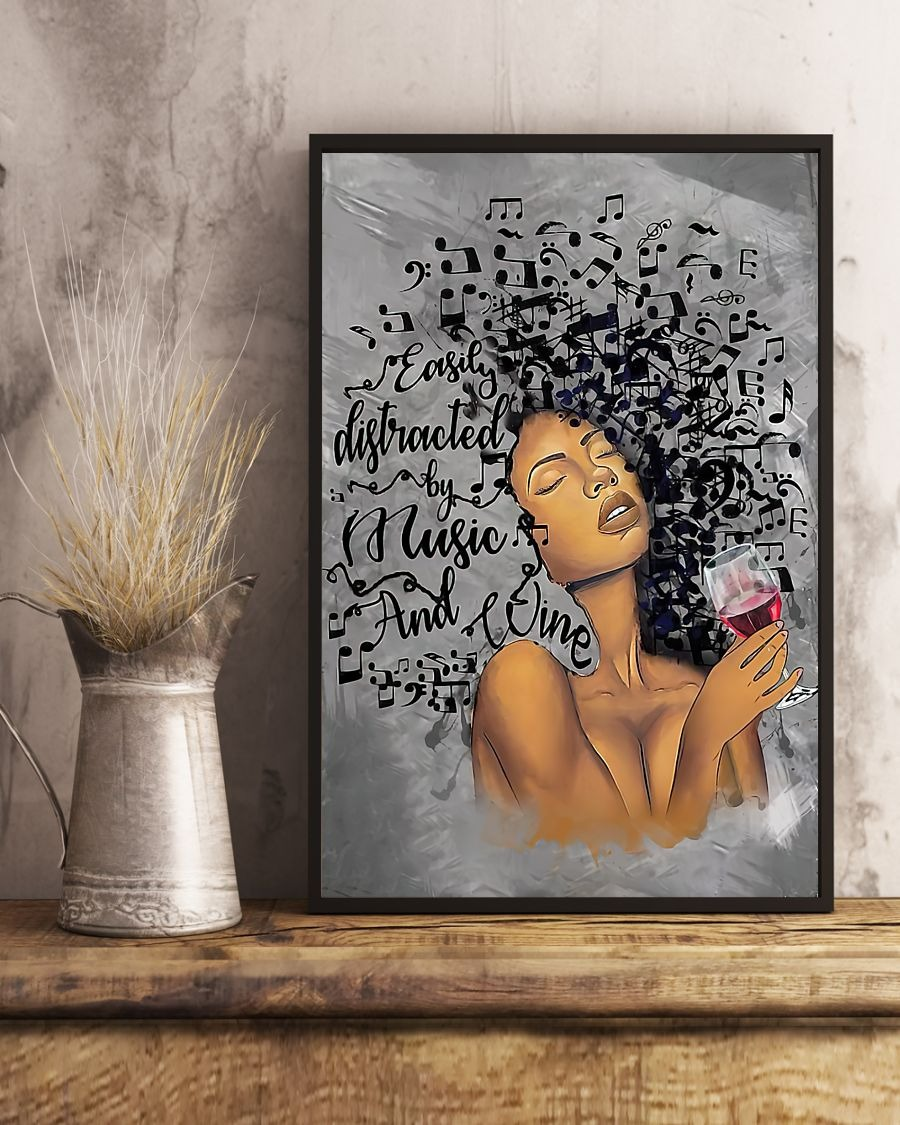 [LIMITED] Poster African American easily distracted by music and wine