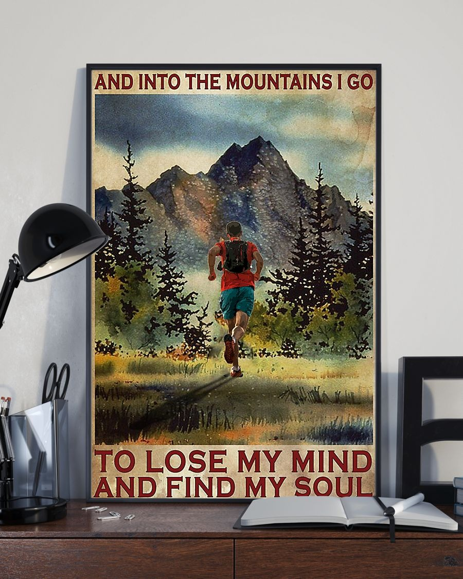 [LIMITED] Poster And into the mountains I go to lose my mind and find my soul