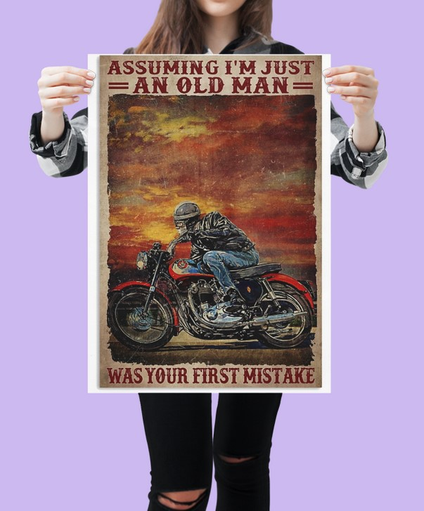 [LIMITED] Poster Assuming i'm just an old man was your first mistake